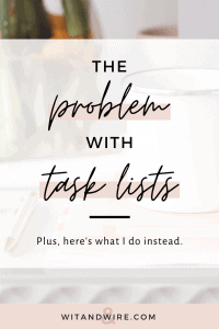 the problem with task lists